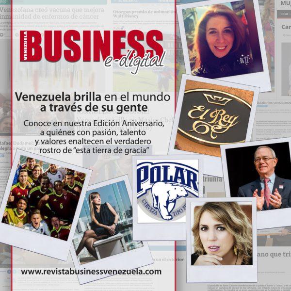 Business Venezuela en su Edición Aniversario nos habla de Venezuela: Exportadora de Talentos