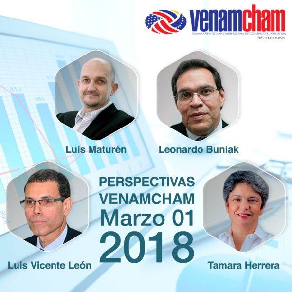 Perspectivas VenAmCham 2018 contará con la participación de destacados conferencistas
