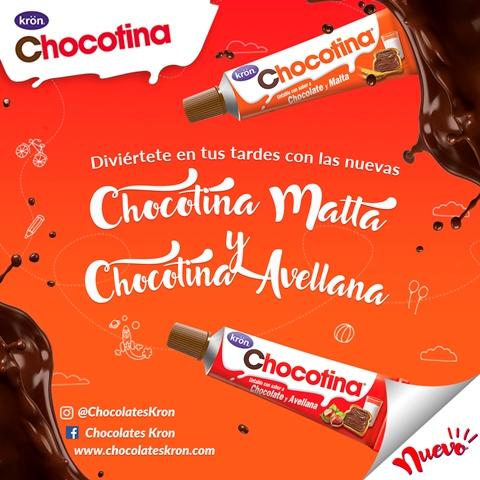 Chocotina trae el delicioso sabor de Chocolates Krön listo para untar