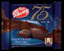 SAVOY presenta su nueva tableta de Chocolate Oscuro 75 años