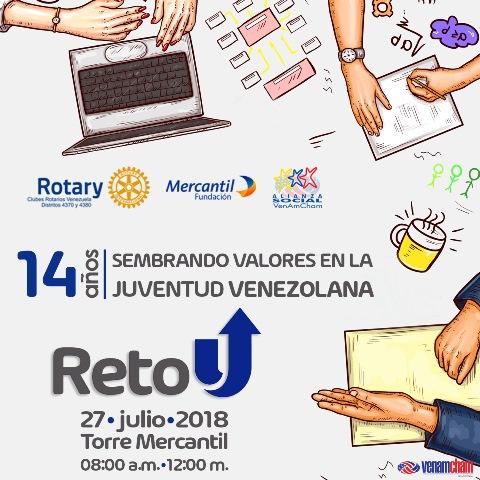 Reto U cumple 14 años capacitando a estudiantes socialmente responsables gracias a la alianza creada entre Rotary Club, Fundación Mercantil y Alianza Social de VenAmCham