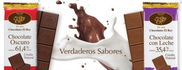 Chocolates El Rey nos presenta su línea Criollo Natural, Chocolate Oscuro 61,4% Cacao y Chocolate con Leche 35,4% Cacao