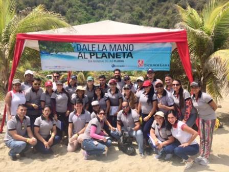 Excelsior Gama celebró el Día Mundial de las Playas