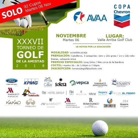 ¡El Torneo de Golf de la Amistad ya está cerca!