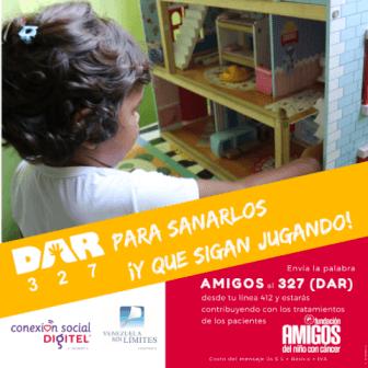 Conexión Social Digitel junto a Venezuela Sin Límites vuelve a activar la campaña DAR