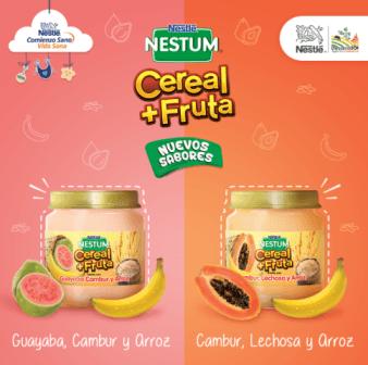 NESTUM Cereal+Fruta y Cereales Infantiles de Nestlé amplían su portafolio