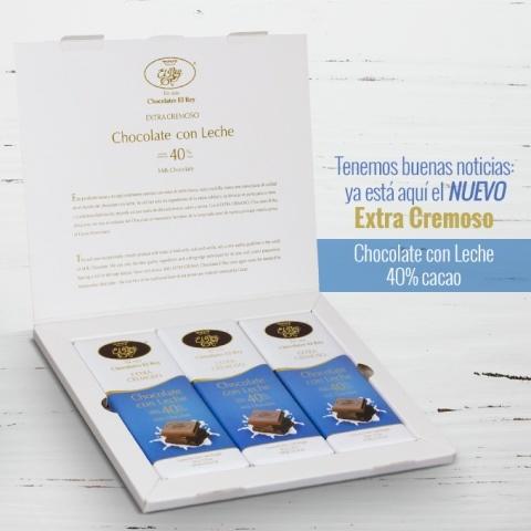Chocolates El Rey anuncia el lanzamiento del Nuevo Chocolate con Leche EXTRA CREMOSO, 40% Cacao