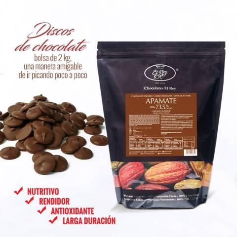 Discos de Chocolate, bolsa de 2 kg de Chocolates El Rey: una manera amigable de ir picando poco a poco