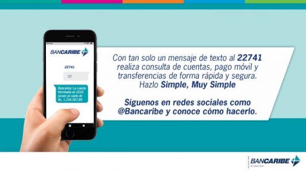 Bancaribe permite a sus clientes realizar transacciones a través de SMS