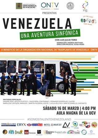El espectáculo musical Venezuela, una aventura sinfónica vuelve al Aula Magna