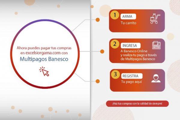 Excelsior Gama habilita opción de pagos en línea a través de Multipagos Banesco