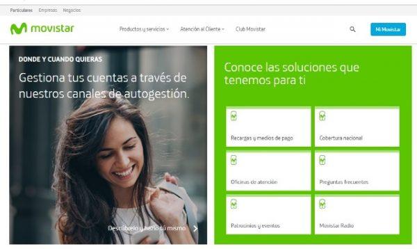 Movistar estrena nueva imagen en su página web