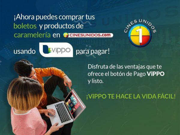 Cines Unidos y ViPPO te facilitan la compra de tus boletos y caramelería en CINESUNIDOS.com
