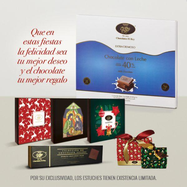 Que en estas fiestas la felicidad sea su mejor deseo y el chocolate su mejor regalo