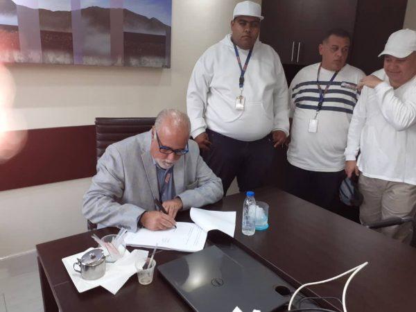 El Grupo Médico Vargas y su Junta Directiva, el día 30 de octubre firmaron el contrato colectivo 2019-2021