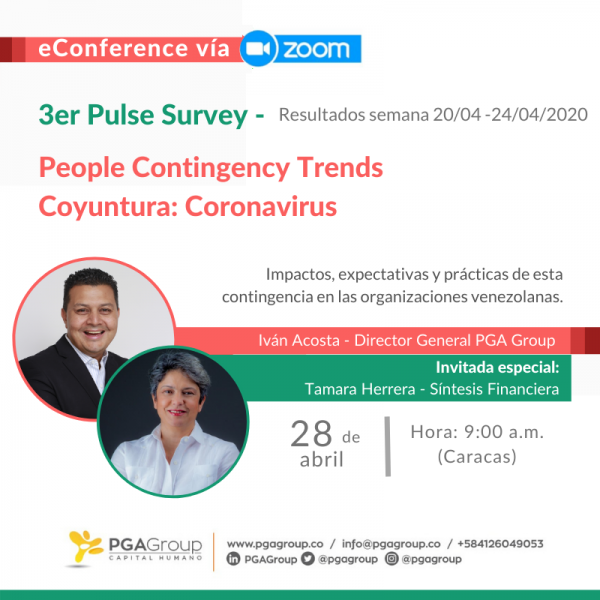PGA Group te invita a la entrega de los resultados de su 3er. Pulse Survey - People Contingency Trends.