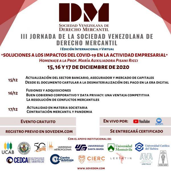 III Jornada de la Sociedad Venezolana de Derecho Mercantil
