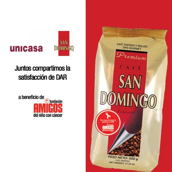 A beneficio Amigos del Niño con Cáncer SAN DOMINGO Y UNICASA COMPARTEN LA SATISFACCION DE DAR