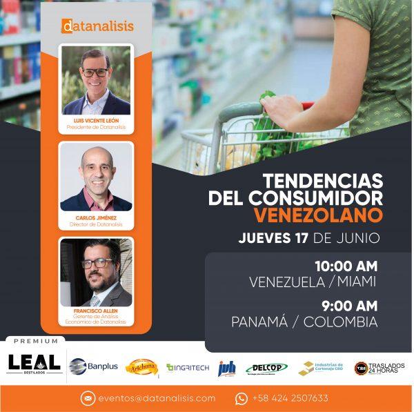 """Datanalisis tiene el agrado de invitarle a participar en nuestro próximo evento online """"Tendencias del Consumidor Venezolano"""""""
