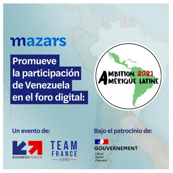 """Mazars en el Foro """"Ambition Amérique Latine 2021"""" para fomentar el capital privado en Venezuela"""