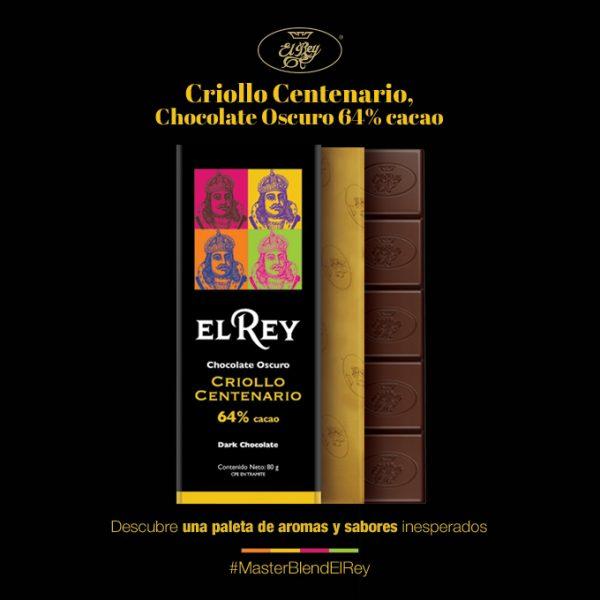 Criollo Centenario, Chocolate Oscuro 64% cacao descubre una paleta de aromas y sabores desconocidos